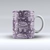 The-Purple-Sacred-Elephant-Pattern-ink-fuzed-Ceramic-Coffee-Mug