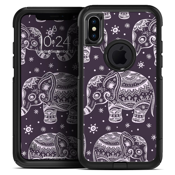 Purple Sacred Elephant Pattern - Skin Kit for the iPhone OtterBox Cases