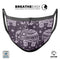 Purple Sacred Elephant Pattern - Made in USA Mouth Cover Unisex Anti-Dust Cotton Blend Reusable & Washable Face Mask with Adjustable Sizing for Adult or Child