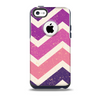 Purple Scratched Texture Chevron Zigzag Pattern Skin for the iPhone 5c OtterBox Commuter Case