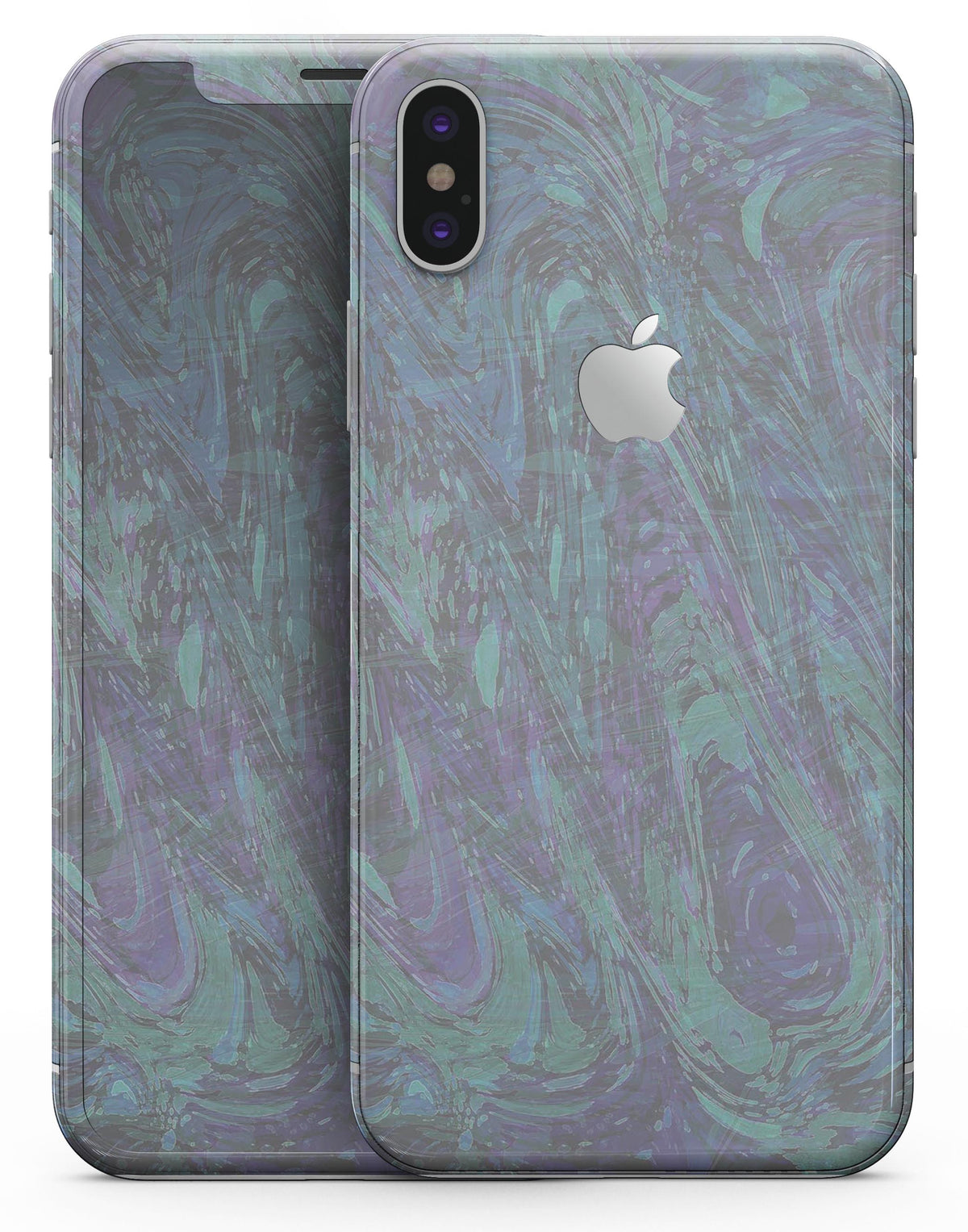 low priced 29463 fa583 Purple Slate Marble Surface V22 - iPhone X Skin-Kit