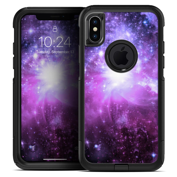 Purple Space Neon Explosion - Skin Kit for the iPhone OtterBox Cases