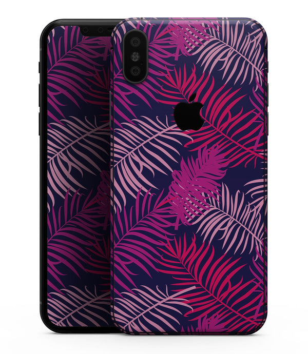 Purple Tropical - iPhone XS MAX, XS/X, 8/8+, 7/7+, 5/5S/SE Skin-Kit (All iPhones Available)