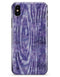 Purple Watercolor Woodgrain - iPhone X Clipit Case