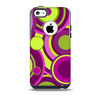 Purple and Green Layered Vector Circles Skin for the iPhone 5c OtterBox Commuter Case