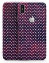 Purple and Red Grunge Clouds with White Chevron - iPhone X Skin-Kit