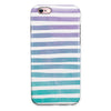 Purple to Green WaterColor Ombre Stripes iPhone 6/6s or 6/6s Plus 2-Piece Hybrid INK-Fuzed Case