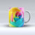 The Rainbow Dyed Rose V2 ink-Fuzed Ceramic Coffee Mug