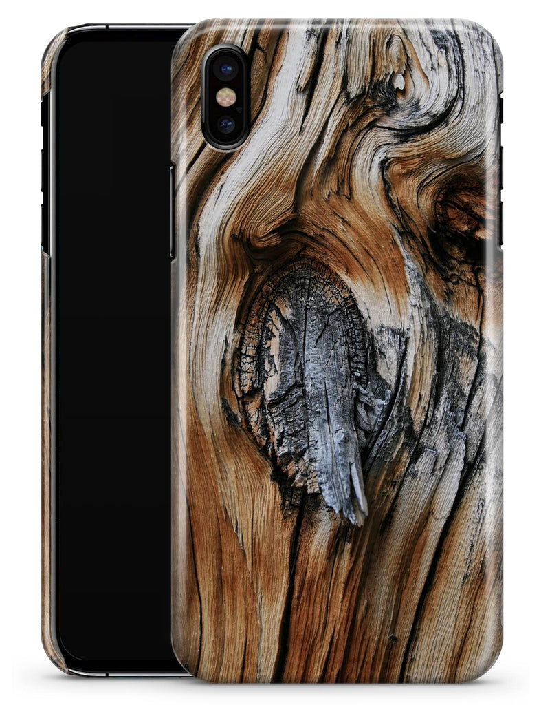 Raw Aged Knobby Wood - iPhone X Clipit Case