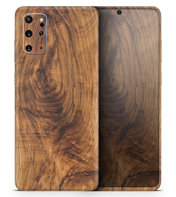 Raw Wood Planks V11 2 - Skin-Kit for the Samsung Galaxy S-Series S20, S20 Plus, S20 Ultra , S10 & others (All Galaxy Devices Available)