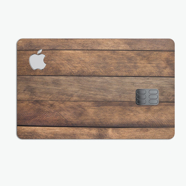 Raw Wood Planks V9 - Premium Protective Decal Skin-Kit for the Apple Credit Card