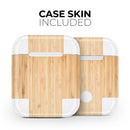 Real Light Bamboo Wood - Full Body Skin Decal Wrap Kit for the Wireless Bluetooth Apple Airpods Pro, AirPods Gen 1 or Gen 2 with Wireless Charging