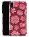 Red Floral Succulents - iPhone X Clipit Case