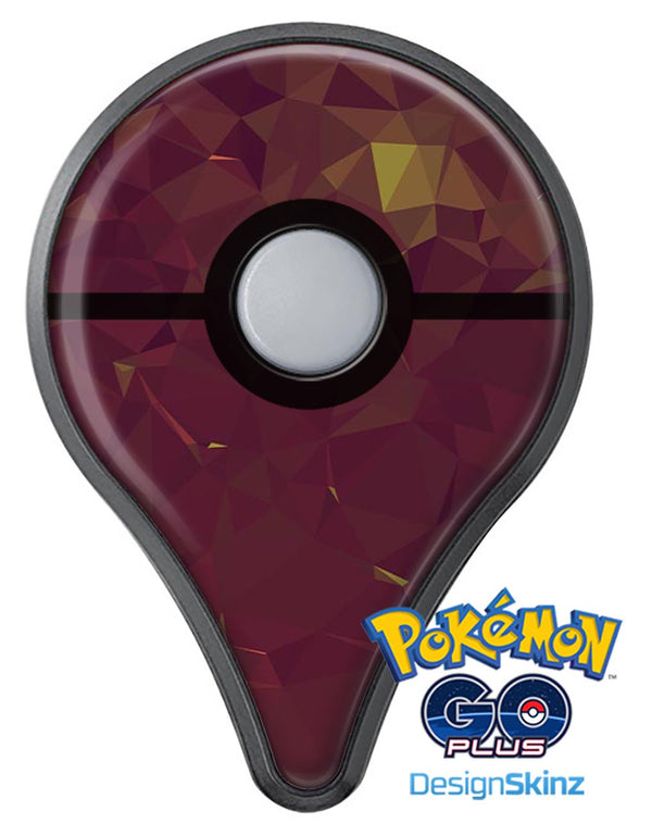 Red Geometric V13 Pokémon GO Plus Vinyl Protective Decal Skin Kit