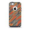 Red, Green and Black Abstract Traditional Camouflage Skin for the iPhone 5c OtterBox Commuter Case
