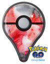 Red Pink 3 Absorbed Watercolor Texture Pokémon GO Plus Vinyl Protective Decal Skin Kit