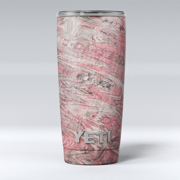 Red Slate Marble Surface V40 Yeti Rambler Skin Kit