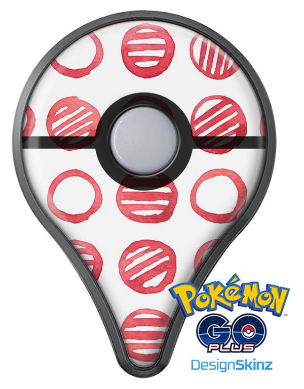 Red Striped Polka Dots Pokémon GO Plus Vinyl Protective Decal Skin Kit