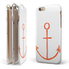 Red Watercolor Anchor iPhone 6/6s or 6/6s Plus 2-Piece Hybrid INK-Fuzed Case