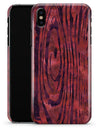 Red Watercolor Woodgrain - iPhone X Clipit Case