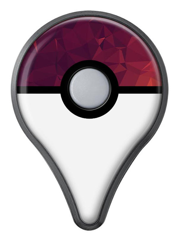 Red and Burgandy Geometric Shapes Pokémon GO Plus Vinyl Protective Decal Skin Kit