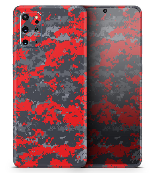 Red and Gray Digital Camouflage - Skin-Kit for the Samsung Galaxy S-Series S20, S20 Plus, S20 Ultra , S10 & others (All Galaxy Devices Available)