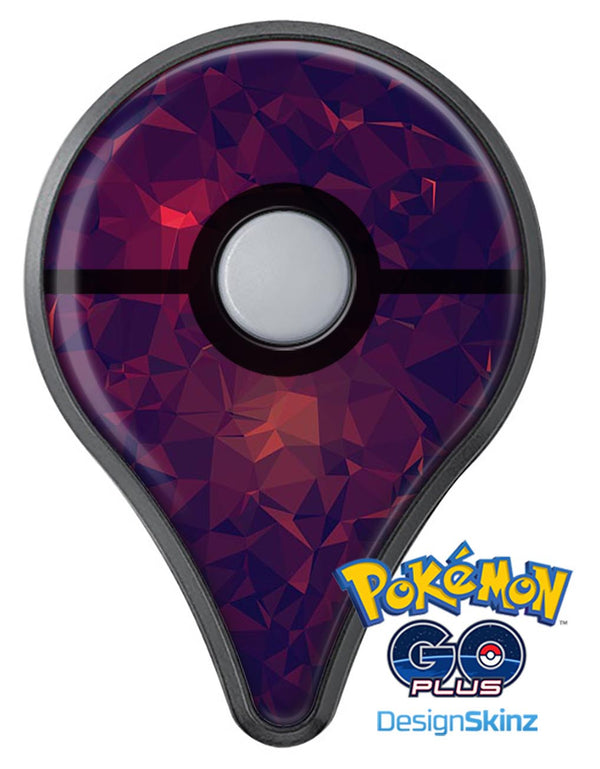 Red and Purple Geometric Triangles Pokémon GO Plus Vinyl Protective Decal Skin Kit