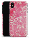 Red and White Floral Damask Pattern - iPhone X Clipit Case