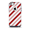 Red and White Slanted Vector Stripes Skin for the iPhone 5c OtterBox Commuter Case