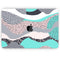 "Retro Summer Mint and Coral - Skin Decal Wrap Kit Compatible with the Apple MacBook Pro, Pro with Touch Bar or Air (11"", 12"", 13"", 15"" & 16"" - All Versions Available)"