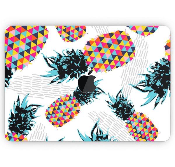 "Retro Summer Pineapple v3 - Skin Decal Wrap Kit Compatible with the Apple MacBook Pro, Pro with Touch Bar or Air (11"", 12"", 13"", 15"" & 16"" - All Versions Available)"