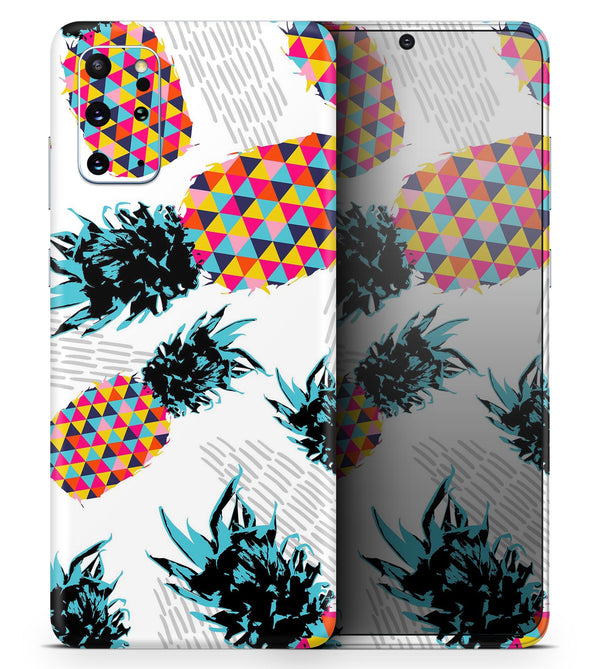Retro Summer Pineapple v3 - Skin-Kit for the Samsung Galaxy S-Series S20, S20 Plus, S20 Ultra , S10 & others (All Galaxy Devices Available)