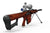 Rich Red Wood grain - Barrett Model 82A1 .50 Caliber Rifle Skin-Kit