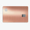 Rose Gold Digital Brushed Surface V2 - Premium Protective Decal Skin-Kit for the Apple Credit Card