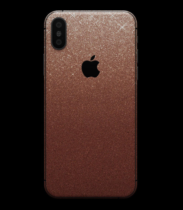 Rose Gold Digital Falling Glitter - iPhone XS MAX, XS/X, 8/8+, 7/7+, 5/5S/SE Skin-Kit (All iPhones Available)