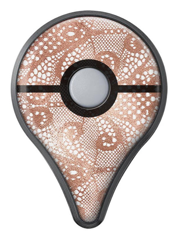 Rose Gold Lace Pattern 1 Pokémon GO Plus Vinyl Protective Decal Skin Kit