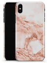 Rose Pink Marble & Digital Gold Frosted Foil V8 - iPhone X Clipit Case