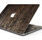 "Rough Textured Dark Wooden Planks - Skin Decal Wrap Kit Compatible with the Apple MacBook Pro, Pro with Touch Bar or Air (11"", 12"", 13"", 15"" & 16"" - All Versions Available)"