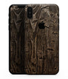 Rough Textured Dark Wooden Planks - iPhone XS MAX, XS/X, 8/8+, 7/7+, 5/5S/SE Skin-Kit (All iPhones Available)