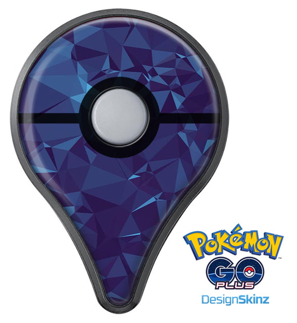 Royal Blue Abstract Geometric Shapes Pokémon GO Plus Vinyl Protective Decal Skin Kit