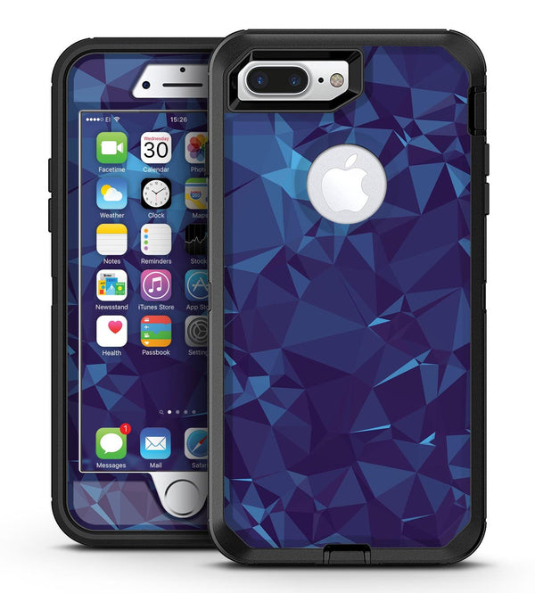 Royal Blue Abstract Geometric Shapes - iPhone 7 Plus/8 Plus OtterBox Case & Skin Kits