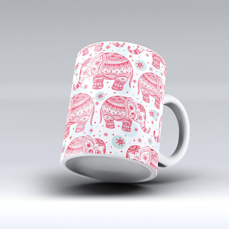 The-Sacred-Red-Elephant-and-Polkadots-ink-fuzed-Ceramic-Coffee-Mug