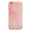 Salmon Pink Overlapping Circles iPhone 6/6s or 6/6s Plus 2-Piece Hybrid INK-Fuzed Case