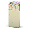 Scattered Multicolor Birthday Dots Over Tan  iPhone 6/6s or 6/6s Plus 2-Piece Hybrid INK-Fuzed Case