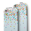 Scattered Multicolor Shapes Over Blue  iPhone 6/6s or 6/6s Plus 2-Piece Hybrid INK-Fuzed Case