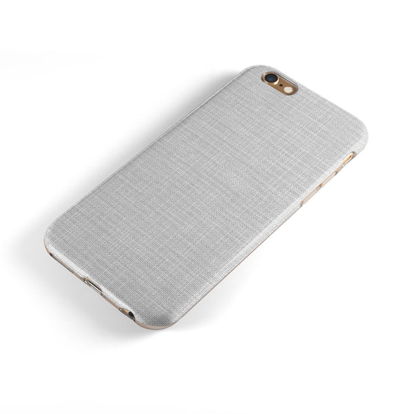 Scratched Gray Fabric Surface iPhone 6/6s or 6/6s Plus 2-Piece Hybrid INK-Fuzed Case