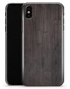 Scratched Horizontal Dark Woodgrain - iPhone X Clipit Case