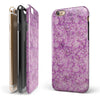 Scratched Purple Grunge Floral Pattern iPhone 6/6s or 6/6s Plus 2-Piece Hybrid INK-Fuzed Case