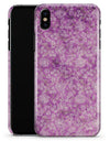 Scratched Purple Grunge Floral Pattern - iPhone X Clipit Case