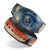 Scratched Surface Peeled American Flag - Decal Skin Wrap Kit for the Disney Magic Band